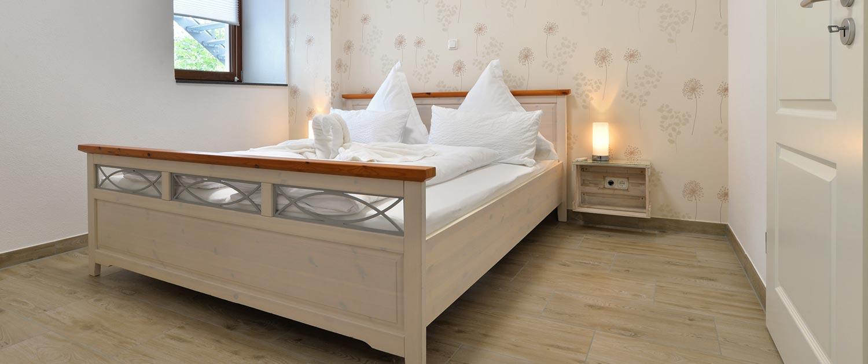 Schlafzimmer von Ferienwohnung Klosterstraße